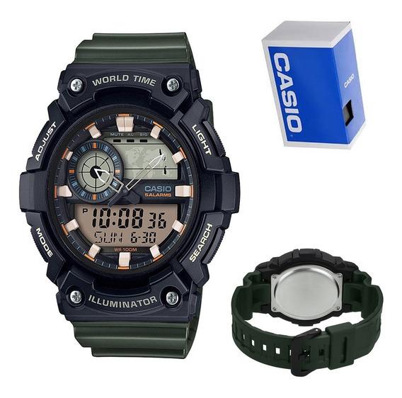 Reloj Casio World Time Aeq200w1avcf Original E-watch