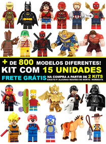 Kit 15 Bonecos Super Heróis Marvel Star Wars Disney Similar