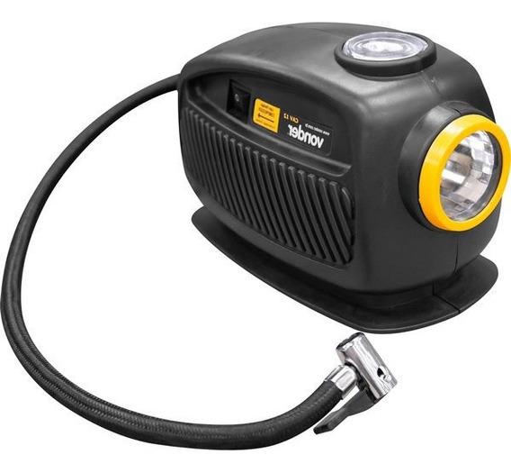 Compressor Ar 12v Pneu Carro Moto Bike - Vonder C/ Lanterna