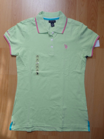 Playera Us Polo Assn Verde Pastel