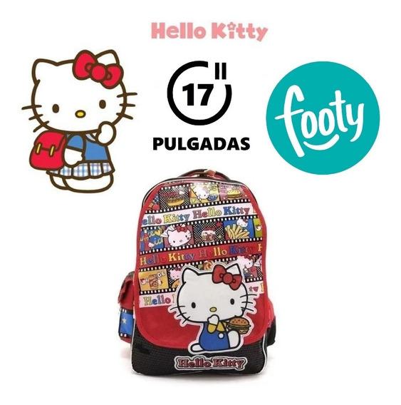 Mochila Hello Kitty Espalda 17 Pulgadas Footy 100% Original
