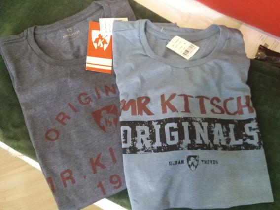 2 Camisetas Mr. Kitsch Masculina Novas Original G Com Etique