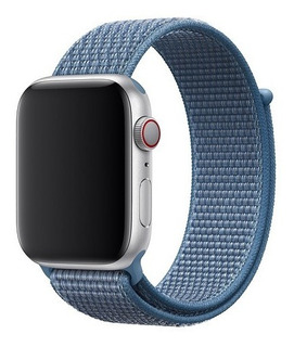 Correa Apple Watch Series 4 Loop Deportiva Azul Cabo