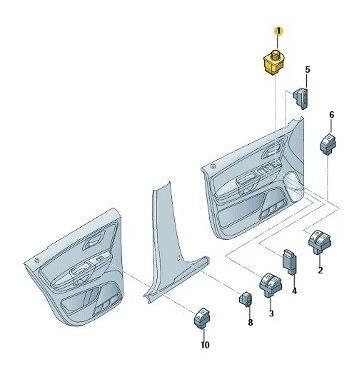 Interruptor Para Espelho Retrovisor Regulavel Eletricament