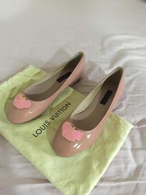 Ballerinas Zapatos Charol Louis Vuitton Rosados Nª 37