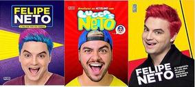 Felipe Neto Luccas Neto Kit 3 Livros