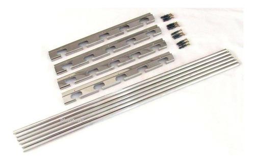 Suporte P/ Churrasqueira 5 Posições + 6 Tubos Alum 1 Metro