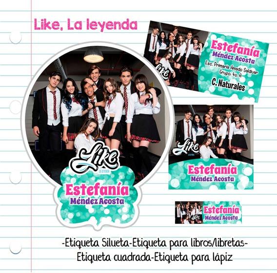 Kit Imprimible Etiquetas Escolares Like, La Leyenda