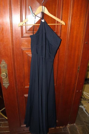 = Roupa Lote 571 Mulher Vestido De Festa Azul Strass 4 M Gaz