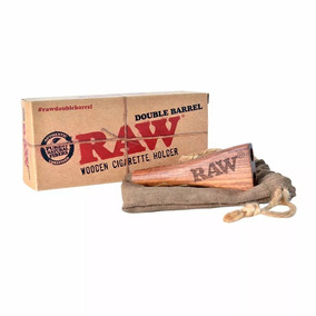 Raw Double Barril - Piteira De Madeira Dupla