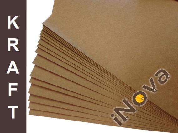 Papel Kraft 200g M² A4 (21 X 29,7 Cm) Pct Com 100 Folhas