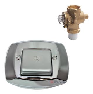 Valvula Tapa Tecla Fv Descarga Embutida Cromada Simple Baño