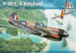 Avião Curtis P-40 E /k Kittyhawk Italeri 1/48 Kit P/ Montar