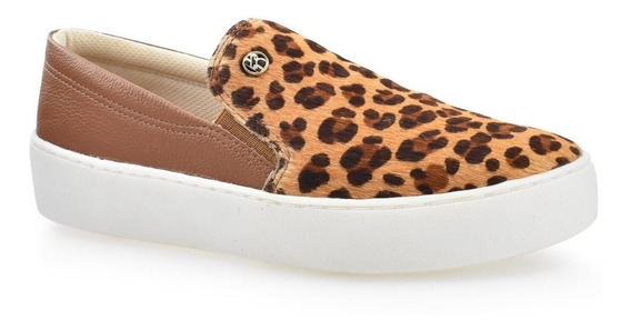 Tênis Slip On Bottero Animal Print Onça 301001 Original