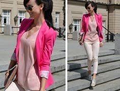 Saco Blazer Rosa Neon De Diseñador Isaac Mizrahi