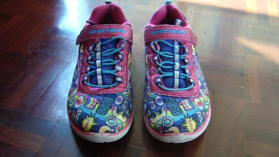 Zapatos Para Niñas Skechers, Multicolores
