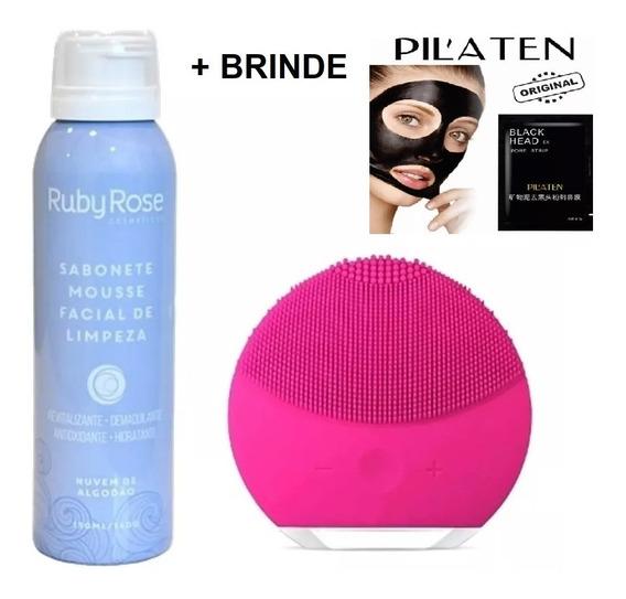 Esponja De Limpeza Elétrica + Mousse Ruby Rose + Brinde