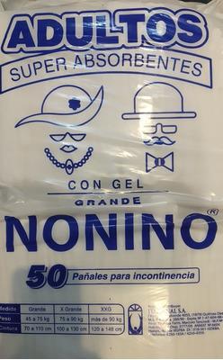 Pañales Nonino Adulto Grande C/gel 50unid. Envio Gratis X 3