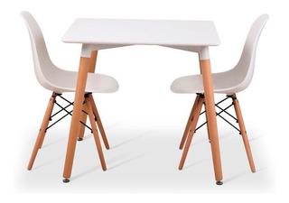 Oferta : Mesa Eames 70x70 Con 2 Sillas Eames / Nordico
