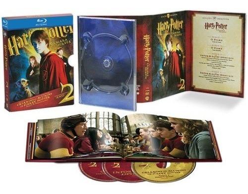 Blu-ray Harry Potter E A Câmara Secreta - Edição Definitiva