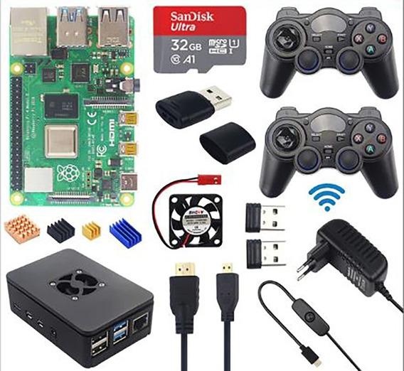 Raspberry Kit Pi4b 2gb 32gb Controles/case/cooler/dissipador