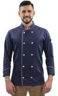 Uniforme Cozinheiro Doma Chef De Cozinha Azul Blueberry