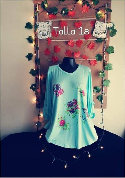 Blusa Dama, Talla 18, Estampado Flores