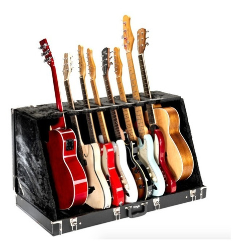 Estuche Universal Para 8 Guitarras Electricas O 4 Acusticas