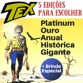 5 Hqs Tex Platinum Ouro Anual Histórica A Escolher + Brinde