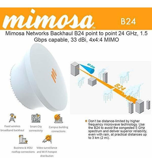 Access Point Mimosa Backhaul B24 Point-to-point 24 Ghz 1.5 ®