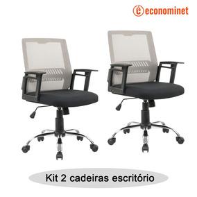 Kit 2 Cadeiras Escritório Giratória Atlanta - Fratini Ofiice