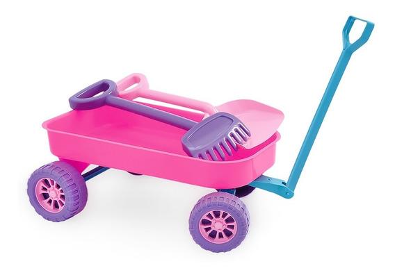 Brinquedo Carrinho De Praia Infantil Com Acessórios Menina