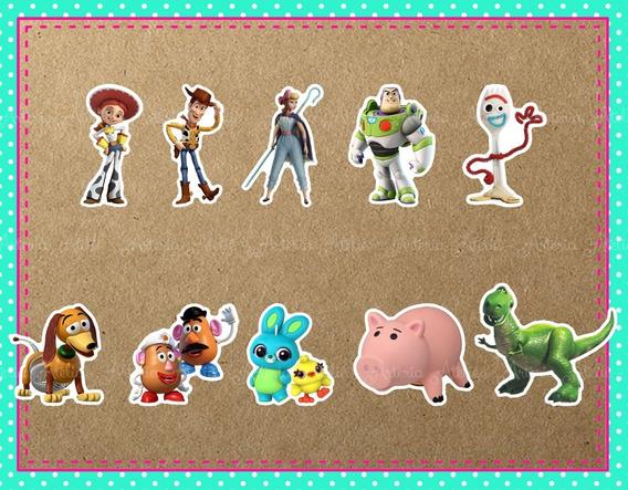 50 Aplique Caixa Tag Personalizados Lembrancinha Toy Story