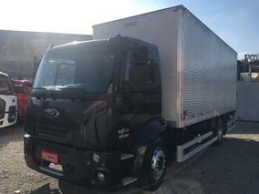 Ford Cargo 1519 Ano 2013 Baú Com Plataforma Elevatória