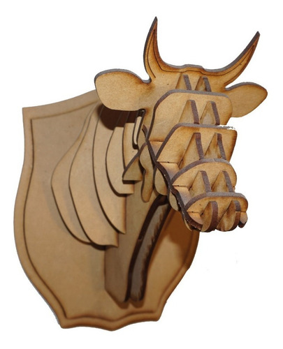 Cabeza De Vaca Decorativa En Mdf