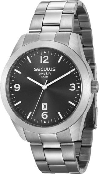 Relógio Masculino Seculus Prateado 28925g0svna1c/ Nf