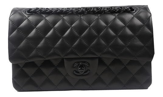 Bolsa Chanel 2.55 All Black Double Flap- Pronta Entrega