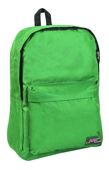 Mochila Escolar 17 Pulgadas Verde Con Bolsillo Exterior 3577