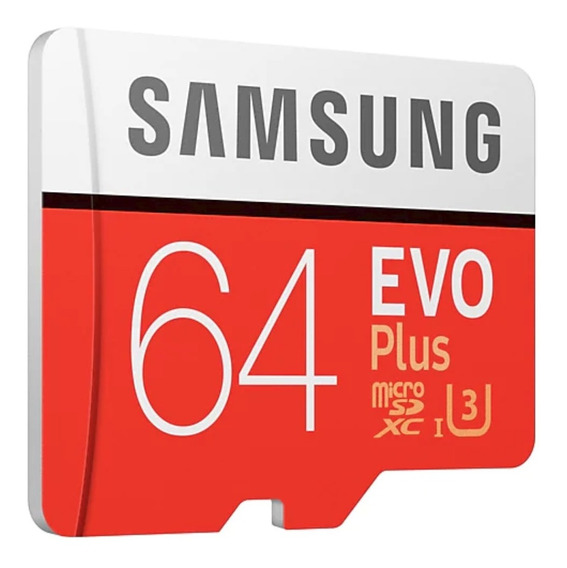Samsung Micro Sd Evo Plus C10 U3 4k 100mb/s 64gb Original