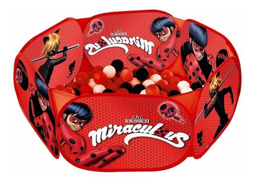 Piscina De Bolinhas Miraculous Ladybug 100 Bolinhas