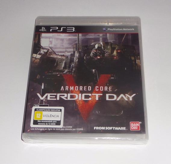 Armored Core V 5 Verdict Day Original Lacrado Física Ps3