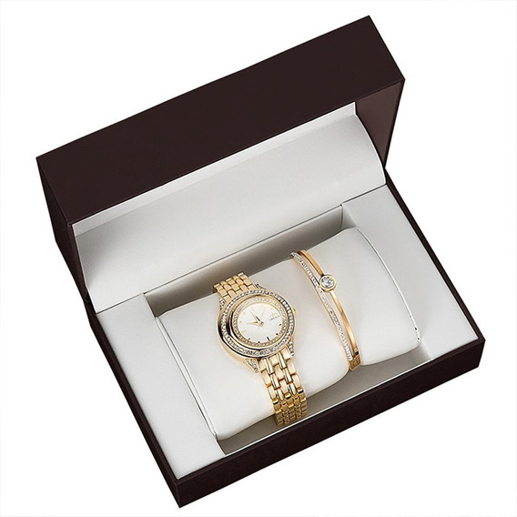 Grealy Quartzo Pulseira De Relógio De Pulso Conjunto Present