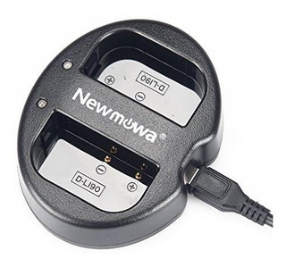 Cargador Usb Dual Newmowa Para Pentax D-li90 Y Pentax 645d 6