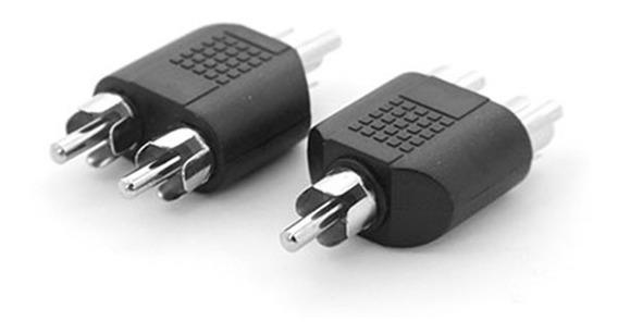 Adaptador Splitter Duplicador Rca 2 Macho X 1 Plug Rca Macho