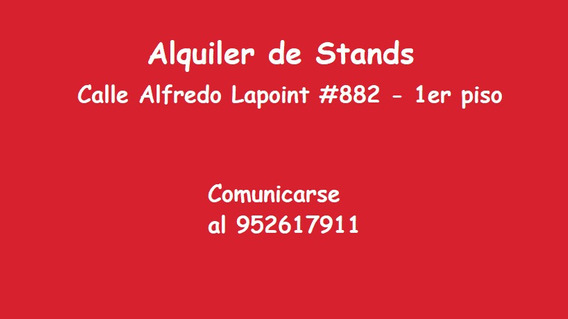 Alquiler Stand