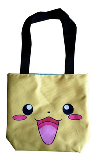 Mini Tote Bag Cartera De Anime Pokemon Pikachu Super Cute!