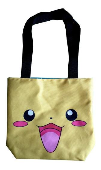 Mini Tote Bag Cartera De Anime Pokemon Pikachu Super Cute!