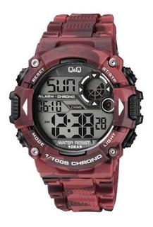 Reloj Q&q By Citizen M146j006y Camuflado Bordo Para Hombre