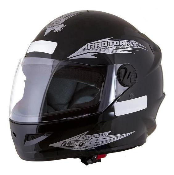 Capacete para moto integral Pro Tork New Liberty Four preto tamanho 60