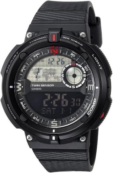 Relógio Casio Sgw 600 1b Bússola Termômetro